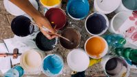 Paint cans for remodeling